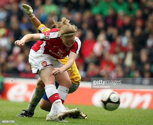 Kim Little of Arsenal scores the second goal for her team during the FA Women's Cup Final Sponsored by EON between Arsenal LFC and Sunderland WFC at...