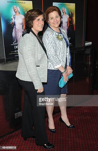 Kim M Catullo and Christine Quinn attend Lady Day At Emerson's Bar Grill Opening Night at Circle in the Square on April 13 2014 in New York City