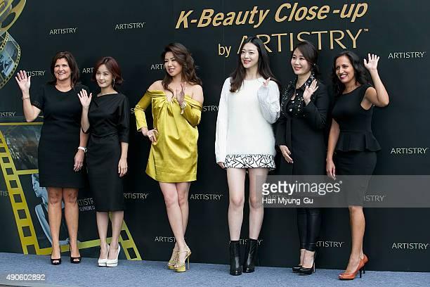 Kim Malewitz Director of Global Beauty Marketing actress Kim JiMin Ye MingZi from China Sulli of girl group f Makeup artist Woo HyunJeung and Sumita...