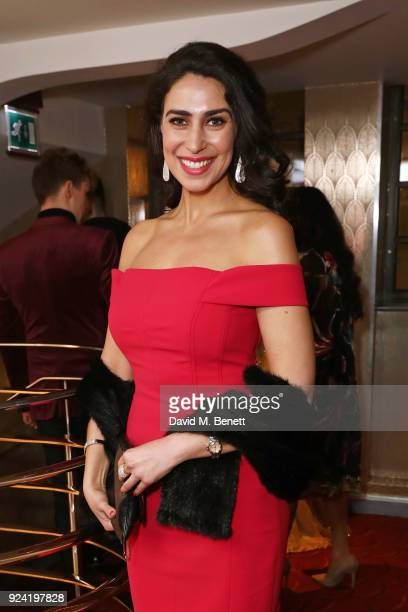 Kim Maresca attends the 18th Annual WhatsOnStage Awards at the Prince Of Wales Theatre on February 25 2018 in London England