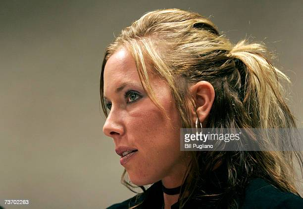 Kim Mathers appears in Macomb County Circuit Court March 26 2007 in Mt Clemens Michigan Mathers' exhusband Marshall Mathers also known as rapper...