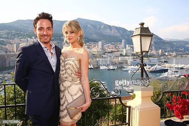 Kim Matula and Ben Goldberg attends a Cocktail Reception at the Ministere d'etat on June 9 2014 in MonteCarlo Monaco