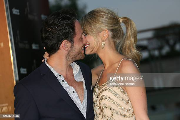 Kim Matula and Fiance attend a Party at the Monte Carlo Bay Hotel on June 9 2014 in MonteCarlo Monaco