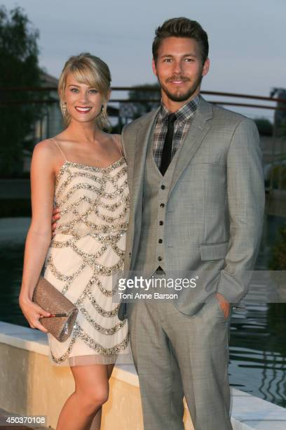 Kim Matula and Scott Clifton attend a Party at the Monte Carlo Bay Hotel on June 9 2014 in MonteCarlo Monaco