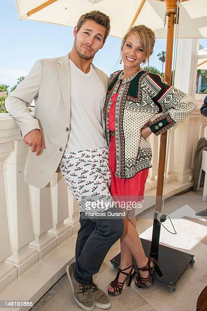 Kim Matula and Scott Clifton attend 'The Bold and The Beautiful' Contest Winner Lunch on June 11 2012 in MonteCarlo Monaco