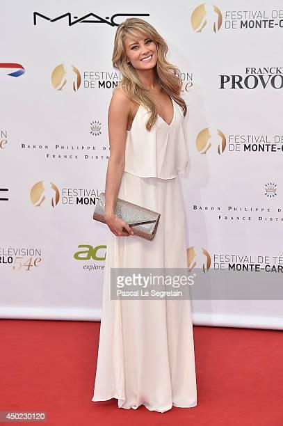 Kim Matula arrives at the opening ceremony of the 54th Monte-Carlo Television Festival on June 7, 2014 in Monte-Carlo, Monaco.