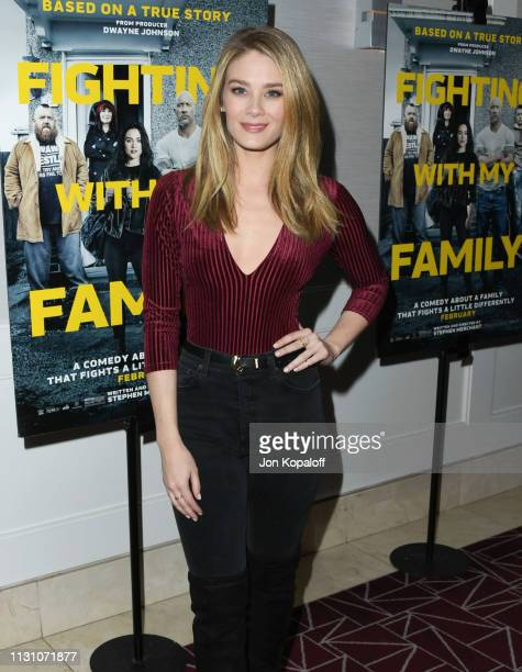 Kim Matula attends Fighting With My Family Los Angeles Tastemaker Screening at The London Hotel on February 20 2019 in West Hollywood California