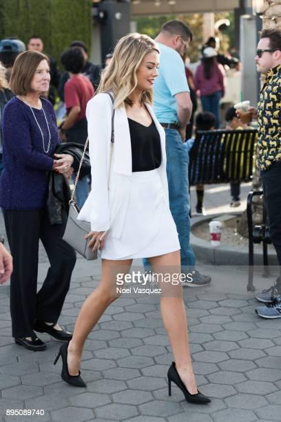 Kim Matula visits Extra at Universal Studios Hollywood on December 18 2017 in Universal City California