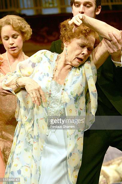 Kim Medcalf and Dame Judi Dench during 'Hay Fever' Rehearsal London Photocall April 19 2006 at Theatre Royal in London Great Britain