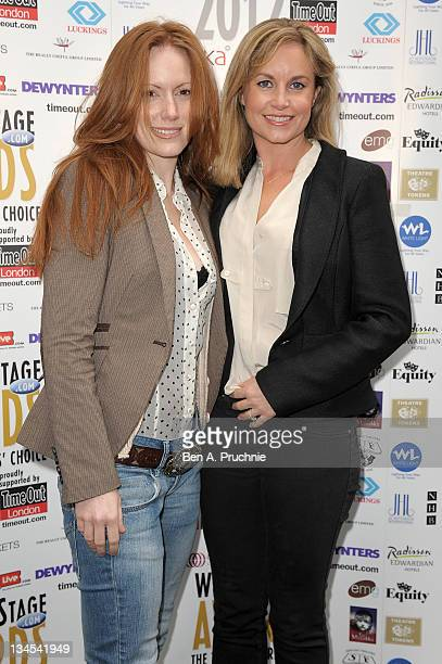 Kim Medcalf and Guest attends the Whatsonstagecom Theatregoers' Choice AwardsÊPress Launch and Nominations Announcement at Cafe de Paris on December...
