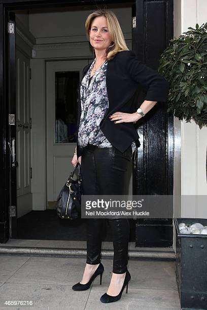 Kim Medcalf arrives for Mothers2Mothers VIP High Tea at Morton's on March 12 2015 in London England