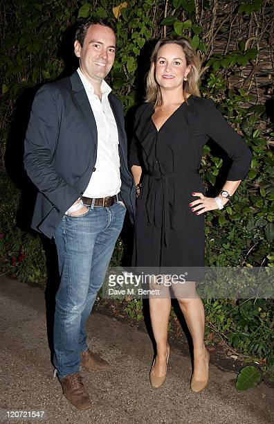 Kim Medcalf attends an after party following press night of 'Crazy For You' at Regent's Park Open Air Theatre on August 8 2011 in London England