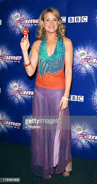 Kim Medcalf during Comic Relief Does Fame Academy 2005 Grand Finale at BBC Television Centre in London Great Britain