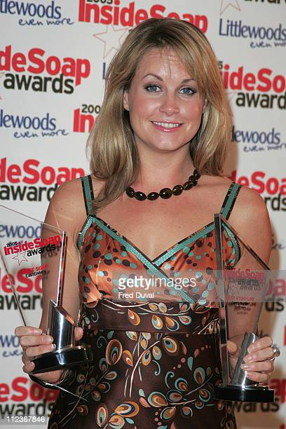 Kim Medcalf during Inside Soap Awards 2005 Arrivals at Floridita 100 Wardour Street in London Great Britain
