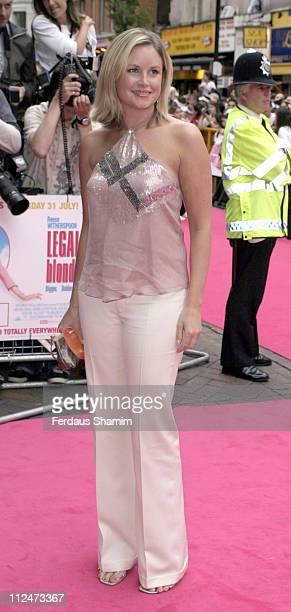 Kim Medcalf during 'Legally Blonde 2 Red White Blonde' London Premiere Arrivals at Warner Cinema Leciester Square in London Great Britain