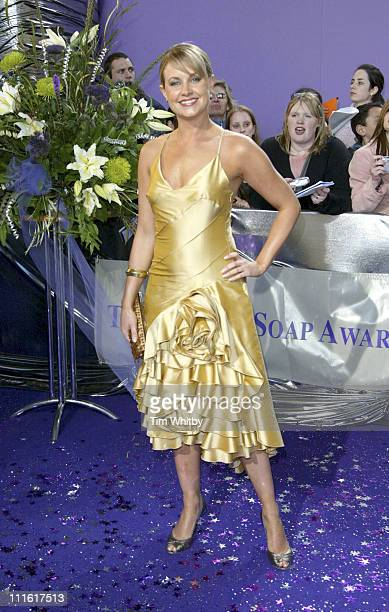 Kim Medcalf during The 2005 British Soap Awards Arrivals at BBC Tv Studios in London Great Britain