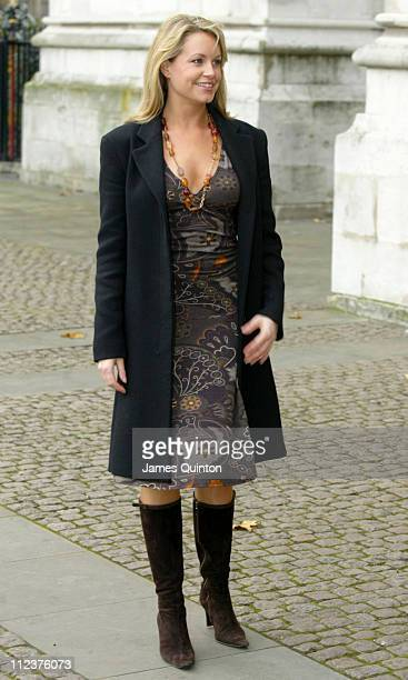 Kim Medcalf during Woman's Own 2005 Children of Courage Awards at Westminster Abbey in London Great Britain