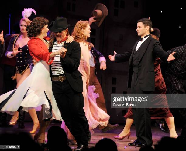 Kim Medcalf Michael McKell Clare Foster and Sean Palmer perform during Press Night of 'Crazy For You' at the Novello Theatre on October 17 2011 in...