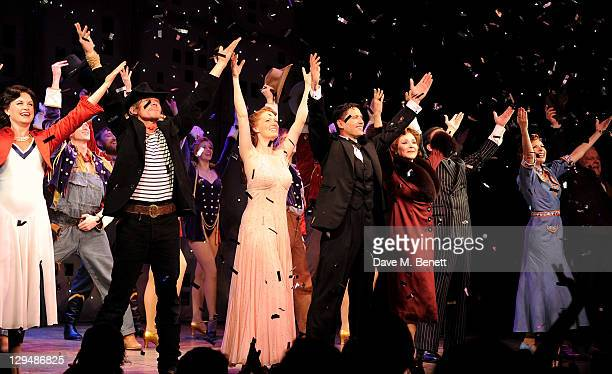 Kim Medcalf Michael McKell Clare Foster Sean Palmer Harriet Thorpe David Burt Rachel Stanley and Sidney Livingstone bow at the curtain call during...