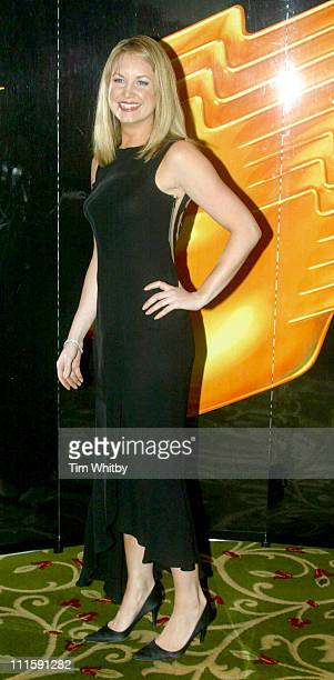 Kim Medcalfe during Royal Television Society Awards Arrivals at Grosvenor House in London Great Britain