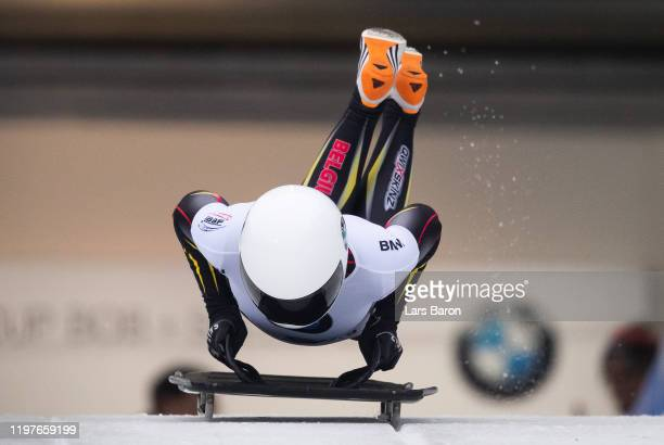 Kim Meylemans of Belgium competes during the BMW IBSF Skeleton World Cup at Veltins Eis-Arena on January 05, 2020 in Winterberg, Germany.