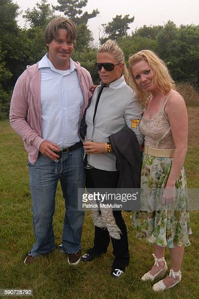 Kim Mile and Jennifer Talbot attend Junko Yoshioka Presents Her Evening Wear Collection at Peter and Nejma Beard Residence on July 16 2005 in Montauk...