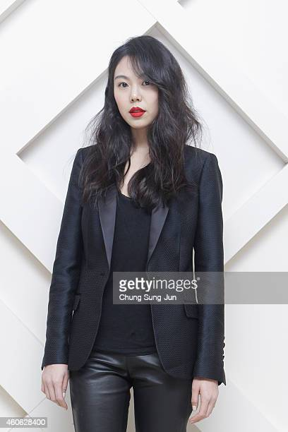 Kim Min Hee wearing Burberry at The Burberry Beauty Box Event on December 18 2014 in Seoul South Korea