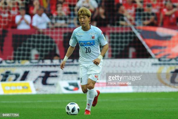 Kim Min Tae of Consadole Sapporo in action during the JLeague J1 match between Urawa Red Diamonds and Consadole Sapporo at Saitama Stadium on April...