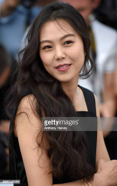 Kim Minhee attends the Claire's Camera Photocall during the 70th annual Cannes Film Festival at Palais des Festivals on May 21 2017 in Cannes France