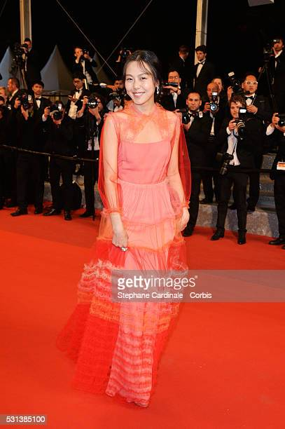 Kim MinHee attends The Handmaiden premiere during the 69th annual Cannes Film Festival at the Palais des Festivals on May 14 2016 in Cannes France