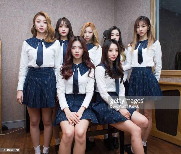 Kim Minji Kim Bora Lee Siyeon Kim Yoohyeon Lee Yoobin Lee Gahyeon and Handong are posing for exclusive portrait session at Le Trianon on February 25...