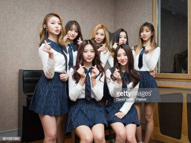 Kim Minji Kim Bora Lee Siyeon Kim Yoohyeon Lee Yoobin Lee Gahyeon and Handong are posing for exclusive portrait session at Le Trianon on February 25...