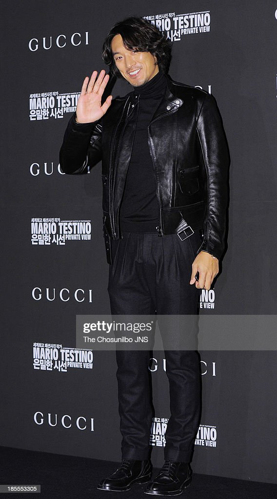 Kim Min-Jun attends the 'Mario Testino: Private View' Photographic Exhibition Opening at GUCCI flagship store on October 18, 2013 in Seoul, South Korea.