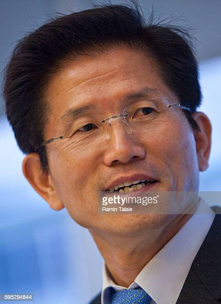 Kim Moon-Soo, Governor of Gyeonggi Province, South Korea and a potential Korean presidential candidate speaks during an interview in New York, on...
