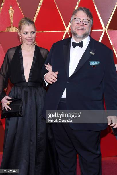 Kim Morgan and Guillermo del Toro attend the 90th Annual Academy Awards at Hollywood Highland Center on March 4 2018 in Hollywood California