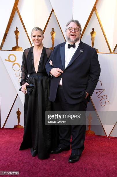 Kim Morgan and Guillermo del Toro attends the 90th Annual Academy Awards at Hollywood Highland Center on March 4 2018 in Hollywood California