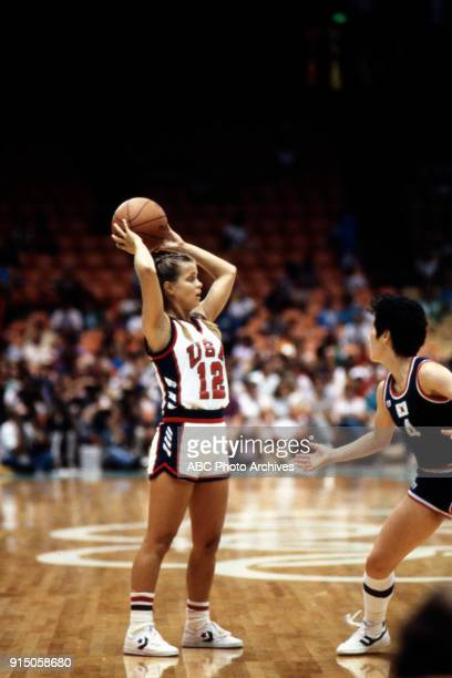 Kim Mulkey Women's basketball competition US vs South Korea The Forum at the 1984 Summer Olympics August 7 1984