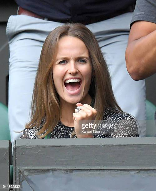 Kim Murray attends day eight of the Wimbledon Tennis Championships at Wimbledon on July 04, 2016 in London, England.