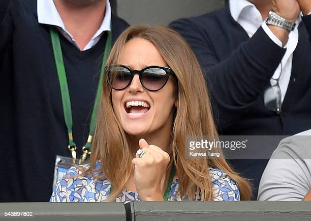 Kim Murray attends day four of the Wimbledon Tennis Championships at Wimbledon on June 30 2016 in London England