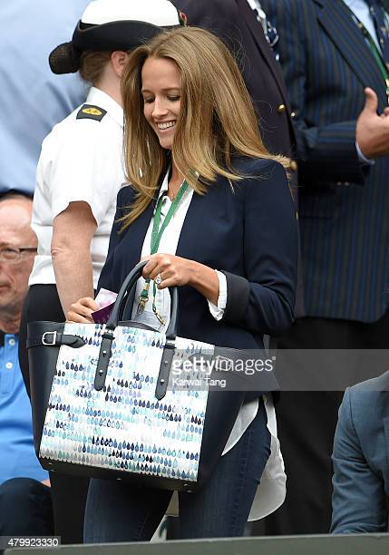 Kim Murray attends day nine of the Wimbledon Tennis Championships at Wimbledon on July 8 2015 in London England