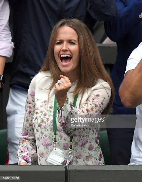 Kim Murray attends day nine of the Wimbledon Tennis Championships at Wimbledon on July 06, 2016 in London, England.