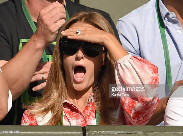 Kim Murray attends day seven of the Wimbledon Tennis Championships at Wimbledon on July 6, 2015 in London, England.
