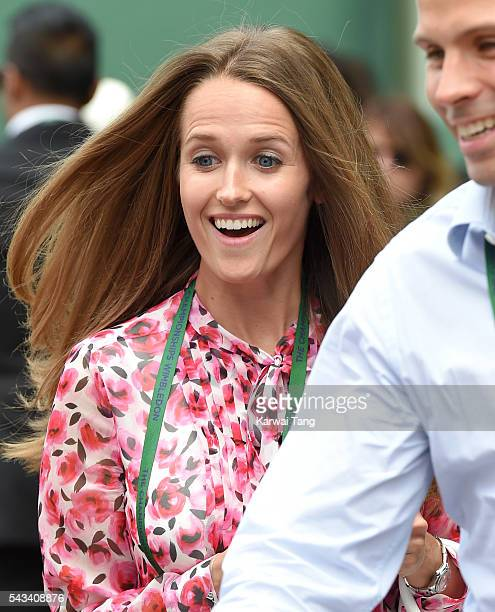 Kim Murray attends day two of the Wimbledon Tennis Championships at Wimbledon on June 28 2016 in London England