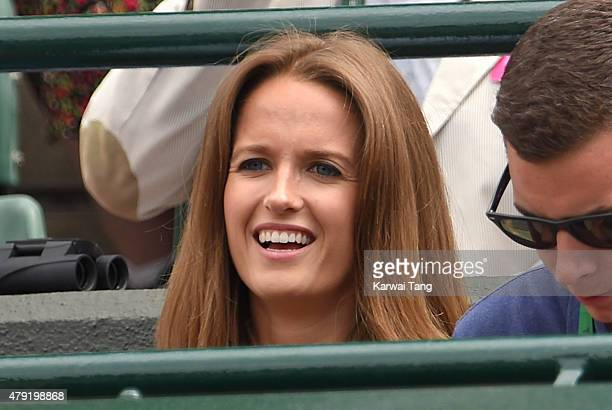 Kim Murray attends the Robin Hasse v Andy Murray match on day four of the Wimbledon Tennis Championships at Wimbledon on July 2 2015 in London England