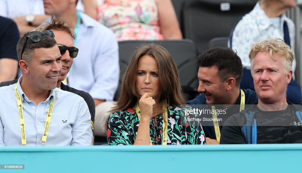 Kim Murray looks on during Day Two of the Fever-Tree Championships at Queens Club on June 19, 2018 in London, United Kingdom.