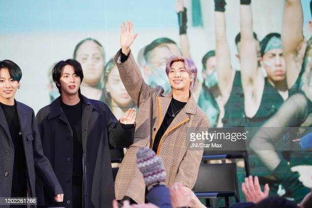 Kim Nam-joon is seen on February 21, 2020 in New York City.