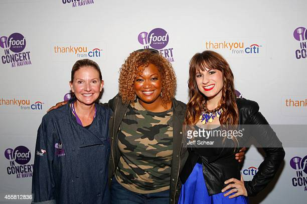 Kim Nelson Sunny Anderson and Caitlyn Smith attend the Food Network in Concert on September 20 2014 in Chicago United States