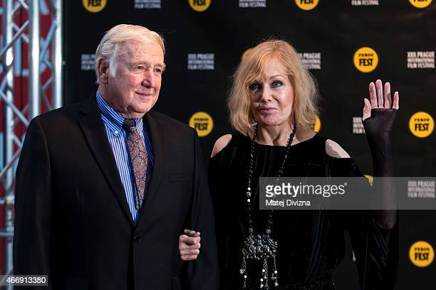 Kim Novak and her husband Robert Malloy arrive at the opening ceremony during the Febiofest Prague International Film Festival on March 19 2015 in...