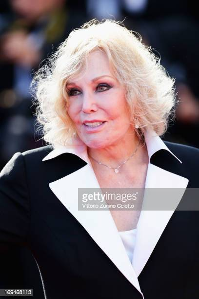 Kim Novak arrives at 'Venus In Fur' Premiere during the 66th Annual Cannes Film Festival at Grand Theatre Lumiere on May 25 2013 in Cannes France