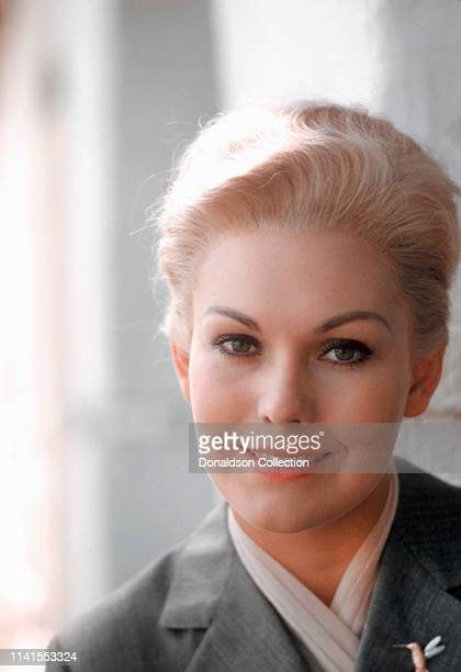 "Kim Novak portrait session on the set of ""Vertigo"" on October 12, 1957."